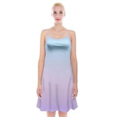 Simple Circle Dot Purple Blue Spaghetti Strap Velvet Dress by Alisyart
