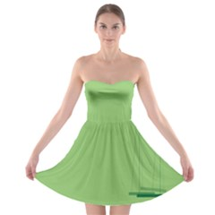 Swing Children Green Kids Strapless Bra Top Dress