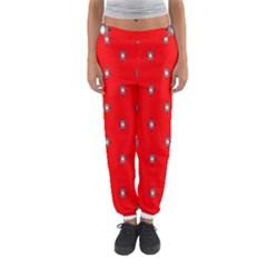 Simple Red Star Light Flower Floral Women s Jogger Sweatpants by Alisyart