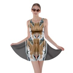 Tiger Face Animals Wild Skater Dress