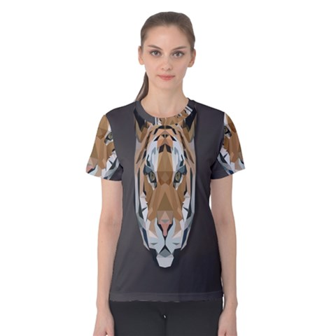 Tiger Face Animals Wild Women s Cotton Tee by Alisyart