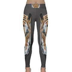 Tiger Face Animals Wild Classic Yoga Leggings by Alisyart