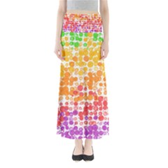Spots Paint Color Green Yellow Pink Purple Maxi Skirts