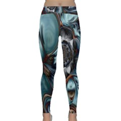 Light Color Floral Grey Classic Yoga Leggings by Alisyart