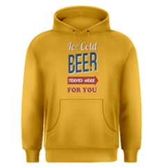 Yellow Ice Cold Beer Served Here For You  Men s Pullover Hoodie by FunnySaying