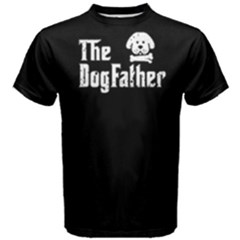 The Dog Father   Men s Cotton Tee by FunnySaying