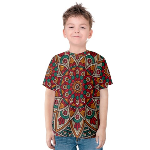 Background Metallizer Pattern Art Kids  Cotton Tee by Nexatart