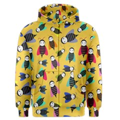 Bees Animal Pattern Men s Zipper Hoodie