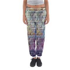 Brick Of Walls With Color Patterns Women s Jogger Sweatpants by Nexatart