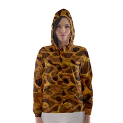 Camo Hooded Wind Breaker (women) by Nexatart