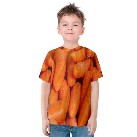 Carrots Vegetables Market Kids  Cotton Tee by Nexatart