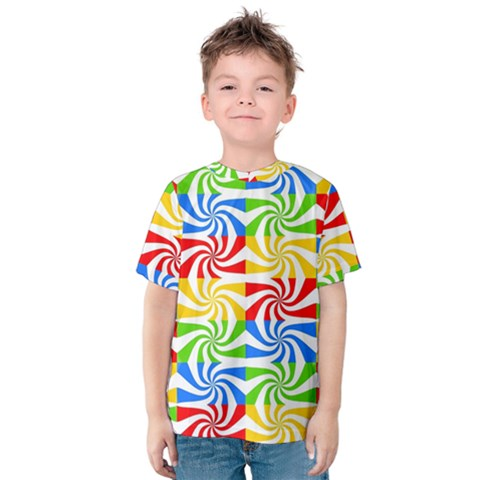 Colorful Abstract Creative Kids  Cotton Tee by Nexatart