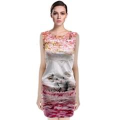 Elephant Heart Plush Vertical Toy Classic Sleeveless Midi Dress