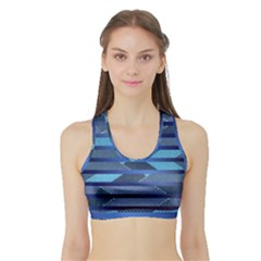 Fabric Texture Alternate Direction Sports Bra With Border by Nexatart