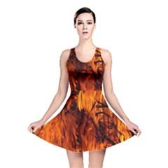 Fire Easter Easter Fire Flame Reversible Skater Dress