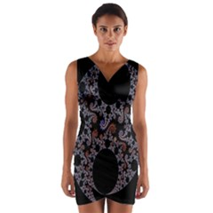 Fractal Complexity Geometric Wrap Front Bodycon Dress by Nexatart