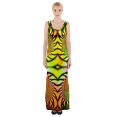 Fractals Ball About Abstract Maxi Thigh Split Dress