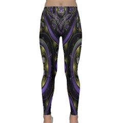 Fractal Sparkling Purple Abstract Classic Yoga Leggings by Nexatart