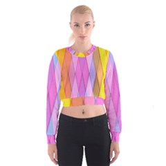 Graphics Colorful Color Wallpaper Women s Cropped Sweatshirt by Nexatart