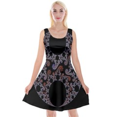 Fractal Complexity Geometric Reversible Velvet Sleeveless Dress by Nexatart