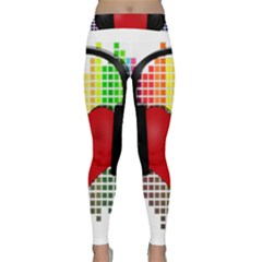 Music Classic Yoga Leggings by Valentinaart