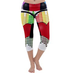 Music Capri Yoga Leggings by Valentinaart