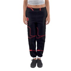 Earphones  Women s Jogger Sweatpants by Valentinaart