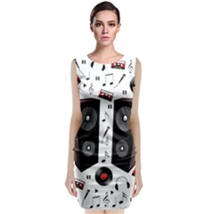 Loud Music Classic Sleeveless Midi Dress by Valentinaart