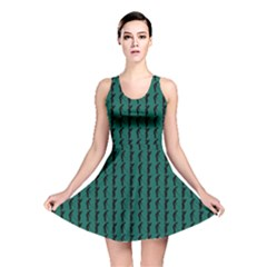 Golf Golfer Background Silhouette Reversible Skater Dress