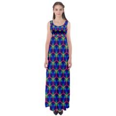 Honeycomb Fractal Art Empire Waist Maxi Dress by Nexatart