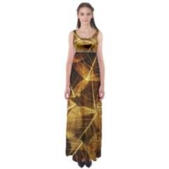 Leaves Autumn Texture Brown Empire Waist Maxi Dress by Nexatart
