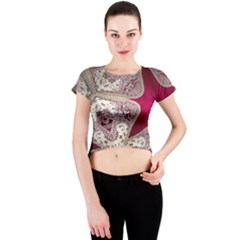 Morocco Motif Pattern Travel Crew Neck Crop Top by Nexatart