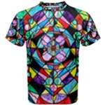 Sacred Geometry Grid - Men s Cotton Tee