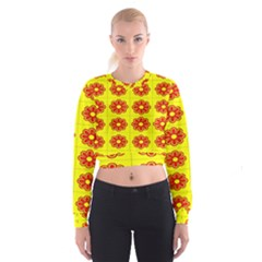 Pattern Design Graphics Colorful Women s Cropped Sweatshirt by Nexatart