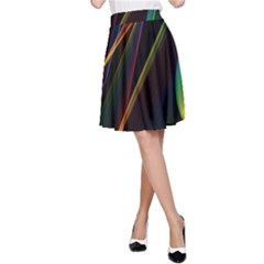 Rainbow Ribbons A Line Skirt by Nexatart