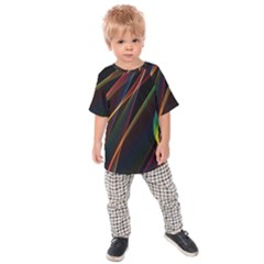 Rainbow Ribbons Kids  Raglan Tee by Nexatart