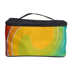 Rainbow Swirl Cosmetic Storage Case by OneStopGiftShop