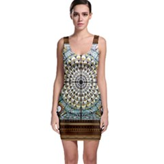 Stained Glass Window Library Of Congress Sleeveless Bodycon Dress by Nexatart