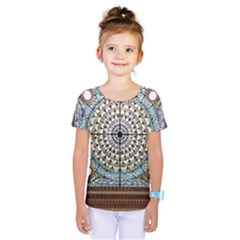 Stained Glass Window Library Of Congress Kids  One Piece Tee by Nexatart