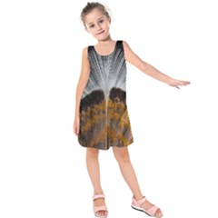 Spring Bird Feather Turkey Feather Kids  Sleeveless Dress by Nexatart