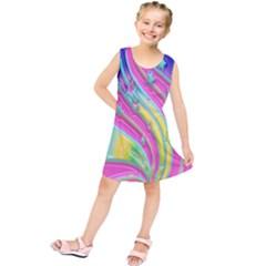 Star Christmas Pattern Texture Kids  Tunic Dress by Nexatart