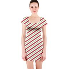 Stripes Striped Design Pattern Short Sleeve Bodycon Dress