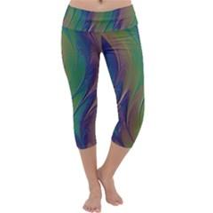 Texture Abstract Background Capri Yoga Leggings by Nexatart