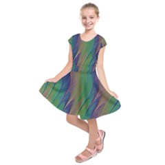 Texture Abstract Background Kids  Short Sleeve Dress by Nexatart