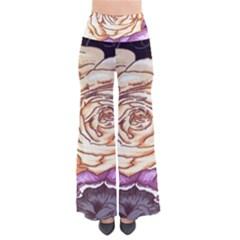 Texture Flower Pattern Fabric Design Pants