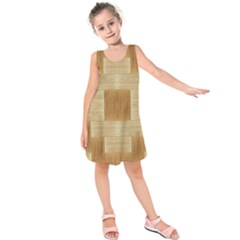 Texture Surface Beige Brown Tan Kids  Sleeveless Dress