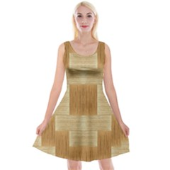 Texture Surface Beige Brown Tan Reversible Velvet Sleeveless Dress by Nexatart