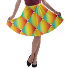 The Colors Of Summer A Line Skater Skirt by Nexatart