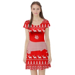 Ugly X Mas Design Short Sleeve Skater Dress