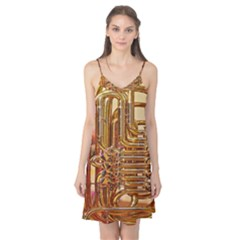 Tuba Valves Pipe Shiny Instrument Music Camis Nightgown by Nexatart